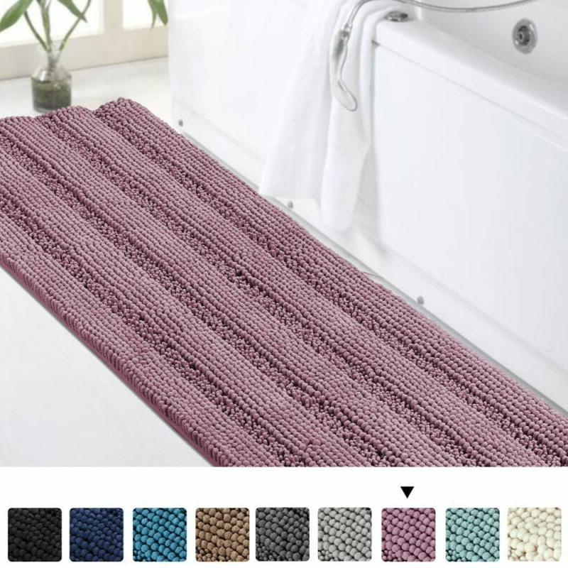 luxury shaggy bath mat chenille bathroom runner