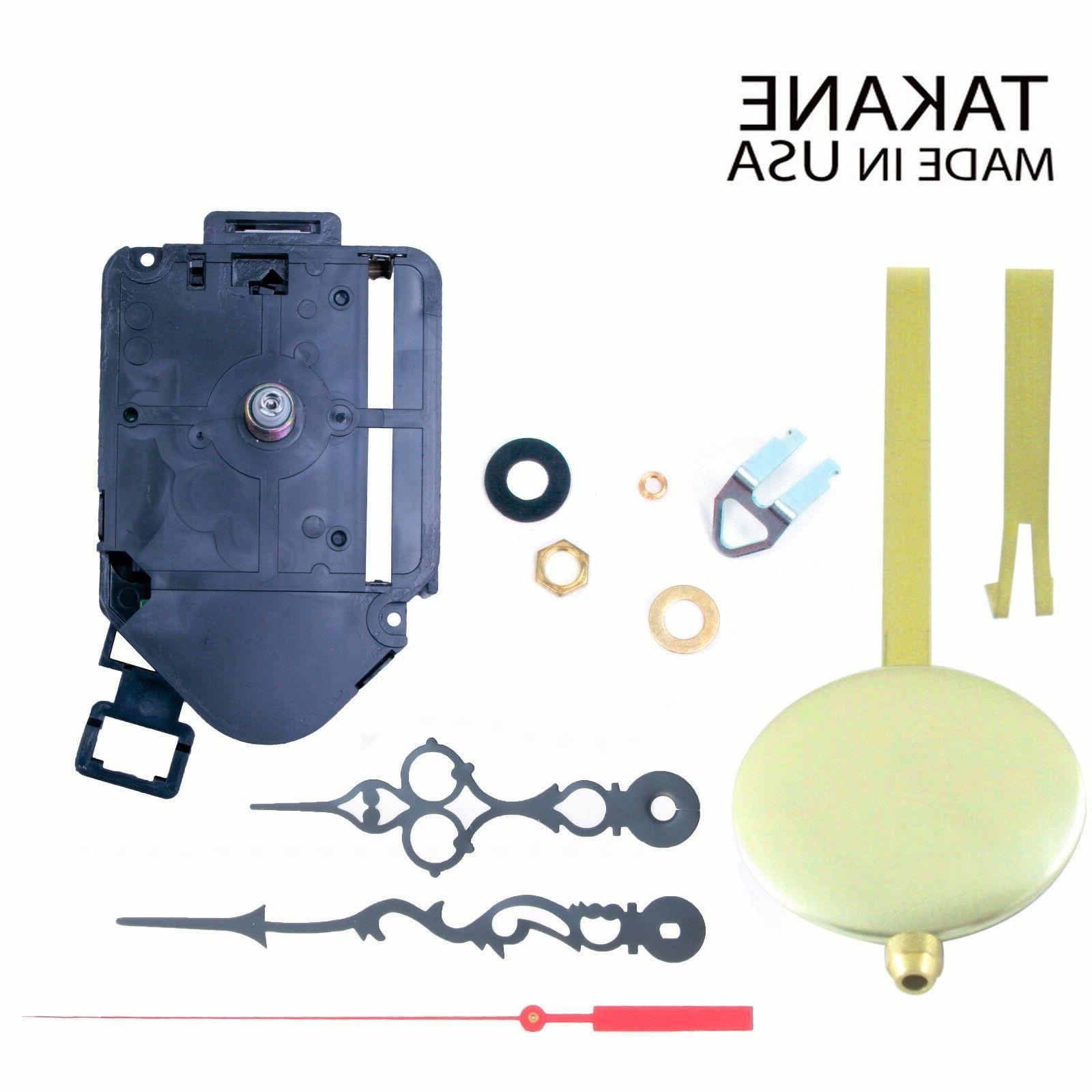 made in usa pendulum clock movements kit