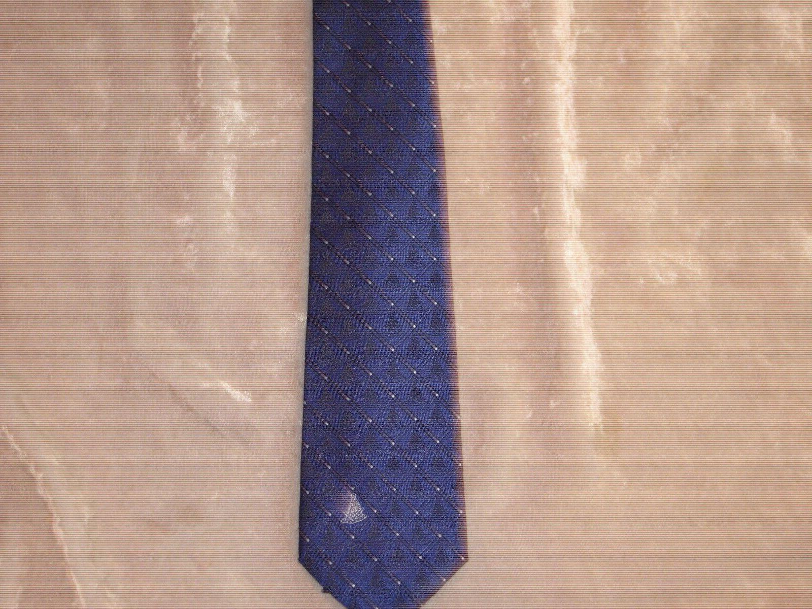 Masonic Past Master Necktie Diamond Fraternity Long