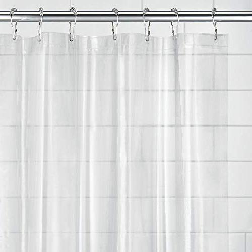"""mDesign - Waterproof, Resistant, Heavy Shower Curtain Liner for Bathroom Shower and - Free - 3 Gauge, 72"""" - Clear"""