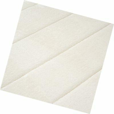 Lavish Memory Foam Striped Extra Mat, White