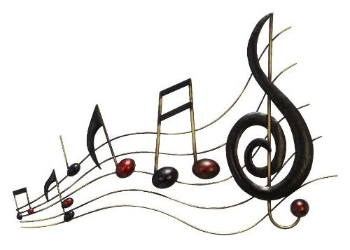 metal wall music notes musical