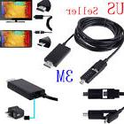 3M/10FT Micro USB MHL to HDMI HDTV Cable Adapter for Android