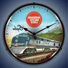 MISSOURI PACIFIC LINES RAILROAD TRAIN MP LIGHTED WALL CLOCK
