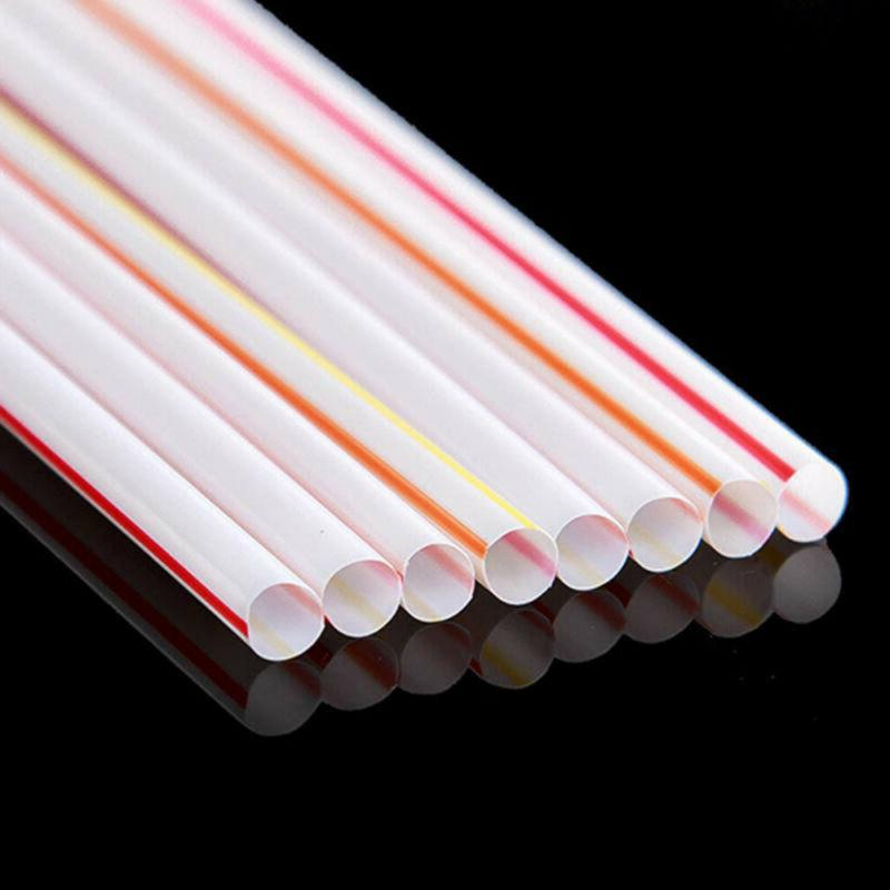 New Disposable Drinking Straws Bend Plastic Curved