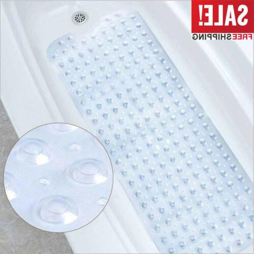 "39"" x 15"" Non Slip Bath Tub Mat Anti Slip Extra Long Large S"