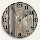OLD WEATHERED BOARDS Wall Clock - Rustic Cabin Country Wall
