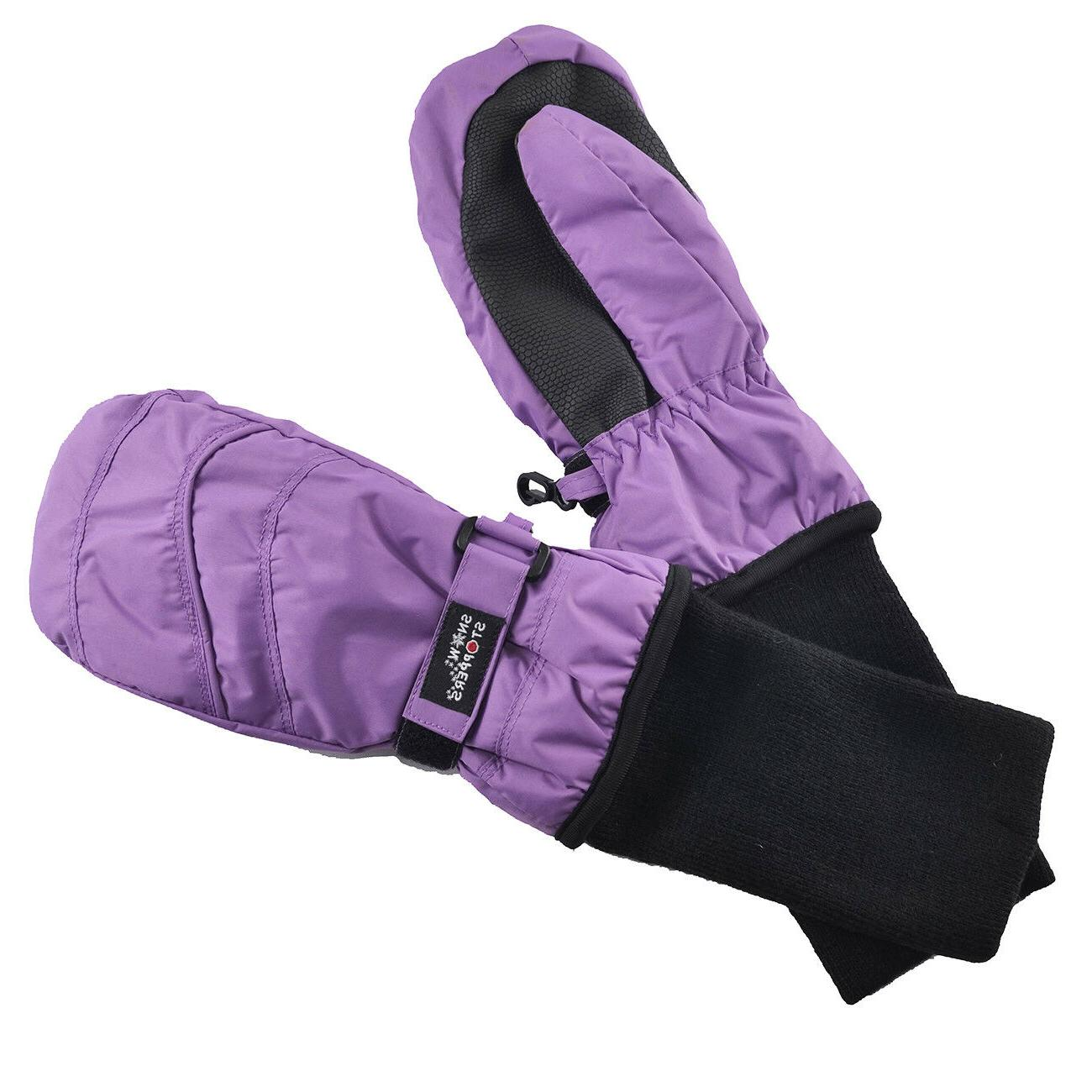 SnowStoppers Extra-Long Cuff Nylon Mittens Ages 6 - years