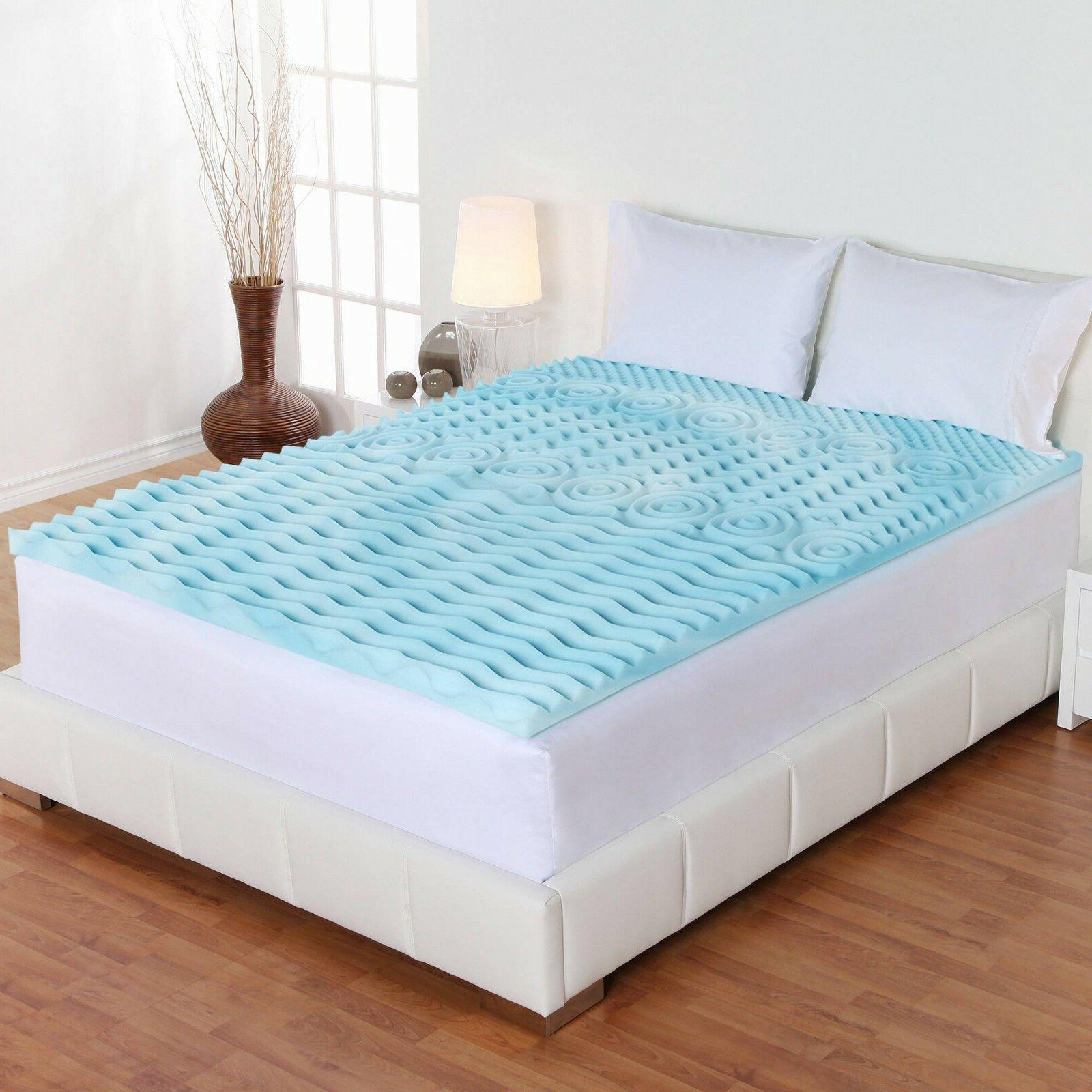 Orthopedic Bed Pad 5-Zone Authentic Comfort 2-Inch Mattress Sizes