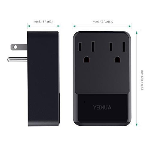 AUKEY 2 Outlets USB 30W Charger for Laptop