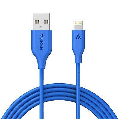 Anker PowerLine 6ft Lightning Cable Apple USB Fast Charger i