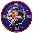President Trump Talking Clock Battery Operated Red Color Fra