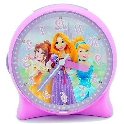 Disney Princess Light-Up Alarm Clock for Girls - Decor