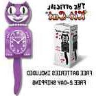 "RADIANT ORCHID LADY KIT CAT CLOCK 15.5"" Free Battery LIMITED"