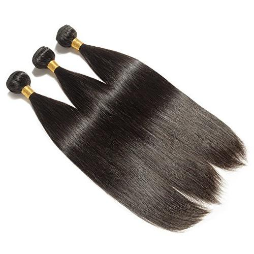 26 Remy Hair Bundle Unprocessed Long Straight Virgin Indian Hair 1 Bundle for Afro American Natural #1B