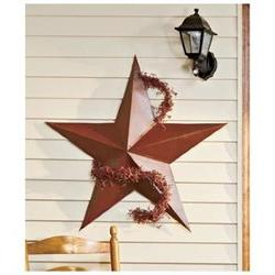 1 X 36 Rustic Dimensional Barn Star - Brown