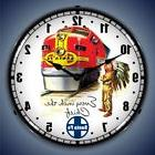 SANTA FE CHIEF RAILROAD TRAIN BACKLIT LIGHTED WALL CLOCK RET