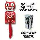 "SCARLET RED KIT CAT CLOCK 15.5"" Free Battery LIMITED EDITION"