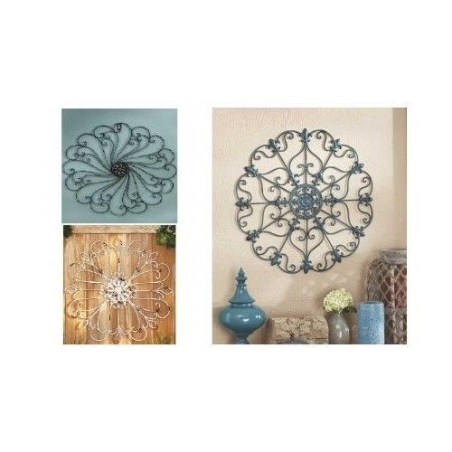 Scrolled Wall Round Metal Medallion Entryway Dining Living D