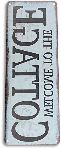 TIN SIGN A678 Welcome to the Cottage Metal Decor Art Farm Sh