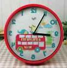 Silent Sweep Decorative Wall Clocks for Kids Room - Analog D