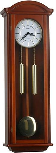 40-inch Solid Wood Pendulum Wall Clock with Hourly Westminst