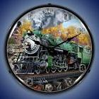 SOUTHERN PS4 RAILROAD TRAIN LIGHTED WALL CLOCK RETRO VINTAGE