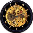 Steampunk Gears Gothic Wall Clock Image of Clock Works Vinta