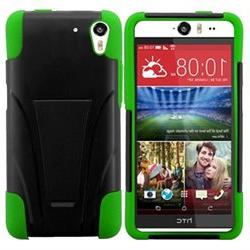 INSTEN T-Stand Cover Case for HTC Desire Eye, Black/Neon Gre