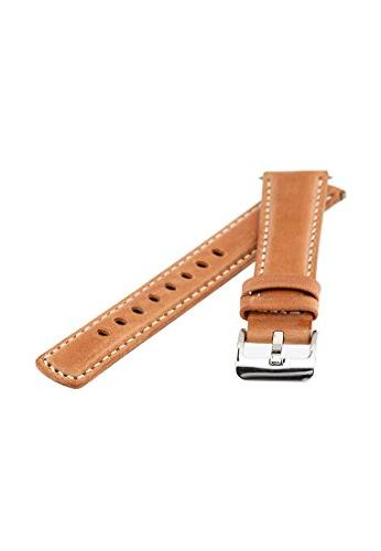 Signature Traveller Wood with white watch band. strap. leather. Buckle