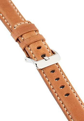 Signature Traveller 22 mm Wood with white extra-long watch Replacement strap. Genuine Buckle