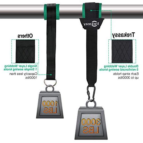 Trekassy 6000 Swing Two 10ft Double Layer Straps with Tree Swing
