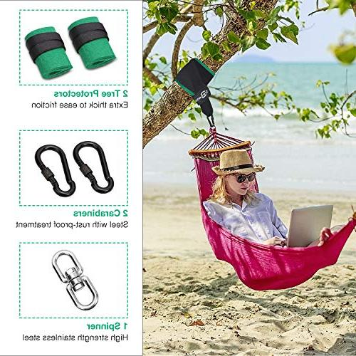 Trekassy 6000 lbs Tree Swing Hanging Two Double Layer Straps with Carabiners Swing