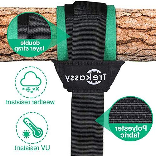 Trekassy 6000 Tree Two Layer Straps with Carabiners Swing Set and