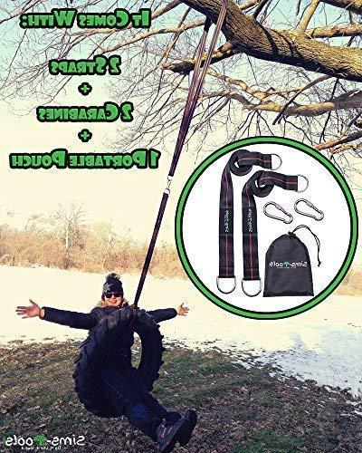 Sims-Tools - Hanging Straps - 2 Extra Straps 10ft 2 Strong - for Every Swing and Hammock - Rope - and