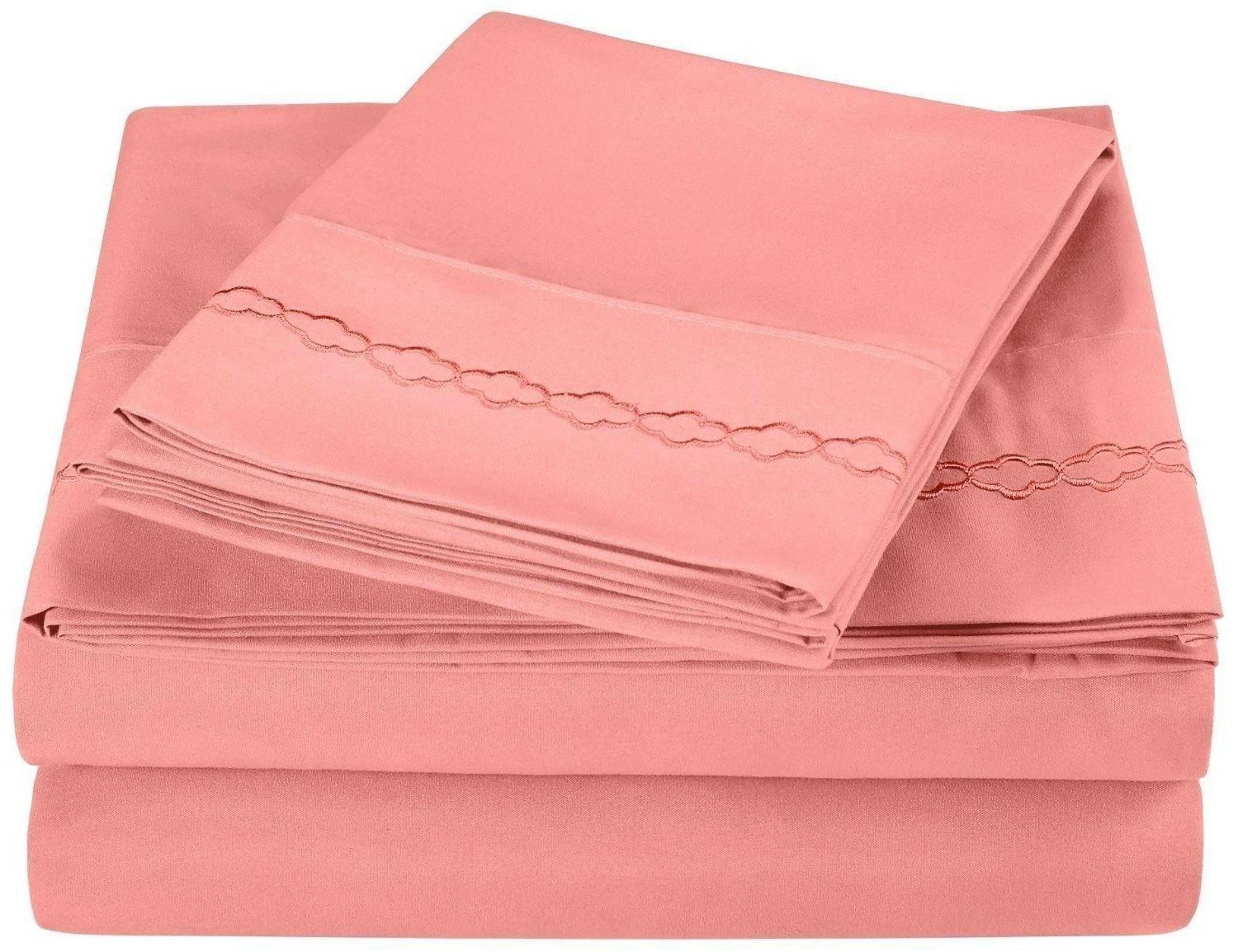 Twin Long 3000 Series Embroidery Microfiber