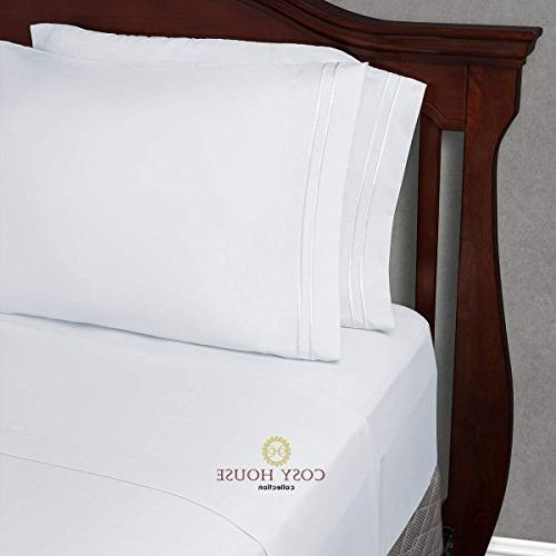 Twin XL Size Sheets - White Twin Extra Bedding Set - Deep Pocket - Ultra Soft Luxury Hotel Sheets- Hypoallergenic Cool & Breathable - Stain, Fade 3