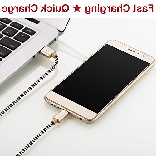 OTISA USB Cable, Long Android Charger Nylon Galaxy Note S8 Google Nintendo Switch Huawei P10 Mate MOTO