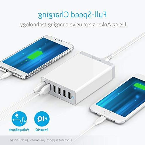 Anker USB Charger, 6 for Xs/XS Max/XR/X/8/7/6/Plus, Pro/Air Galaxy S9/S8/S7/S6/Edge/Plus, Note LG, HTC and More