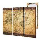 Vintage World Map Canvas Wall Art Picture Prints Home Offic