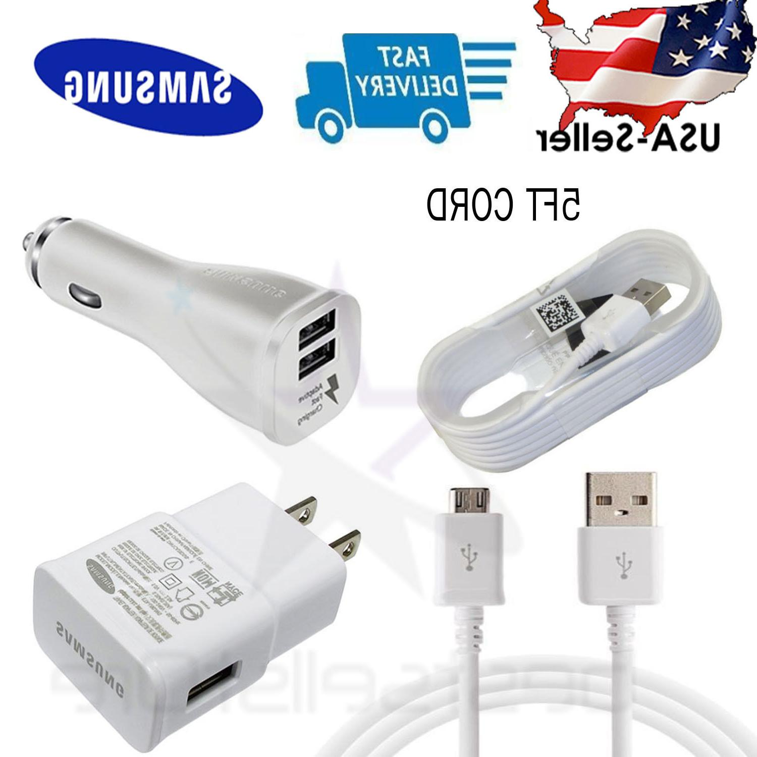 wall charger car adapter 2x cable