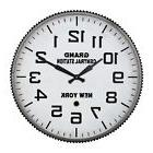 "Wall Clock Large Decorative 23"" Old Fashion Train Design Ove"