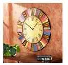 Extra Large Wall Clock Metal Art Modern Southwest Colors Des