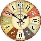 """Wall Clock Grazing 12"""" Vintage Rustic Country Tuscan Style W"""