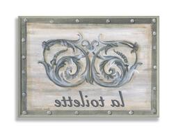 The Stupell Home Decor Collection La Toilette Grey Double Sc