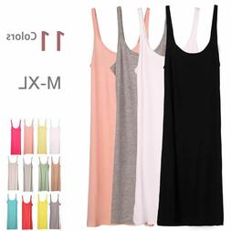 Layer Extra Long Stretchy Cami Tank Top Bandage Spaghetti St