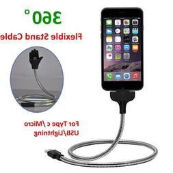 Lazy Stand Up Charging Cable Flexible Phone Holder Bracket U