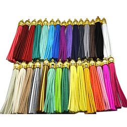 PAMIR TONG 30pcs/lot Leather Tassel Cell Phone Straps DIY Ea