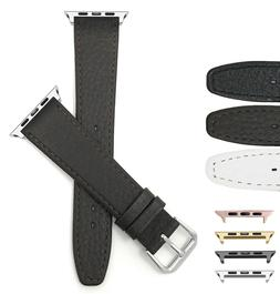 Leather Watch Band for Apple Watch Series 5 4 3 2 1 38 40 42