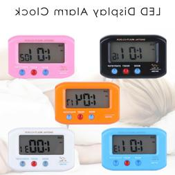 LED Display Mini Table Alarm Clock Stopwatch Time Meter Snoo
